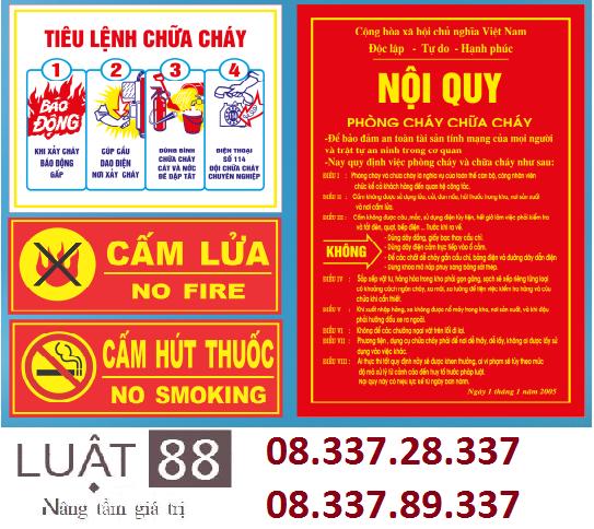 Cấp giấy phép phòng cháy chữa cháy tại Nghệ An
