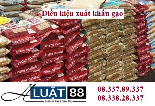 Điều kiện kinh doanh xuất khẩu gạo tại nghệ an
