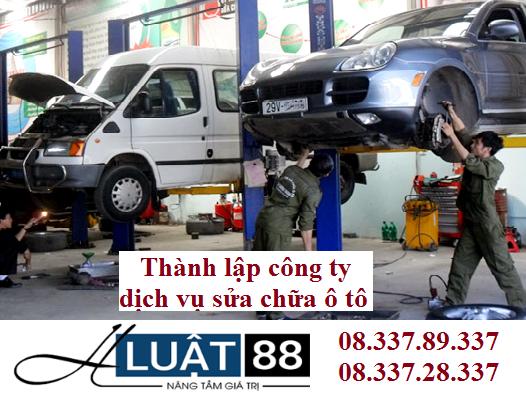 Thành lập công ty dịch vụ sửa chữa ô tô