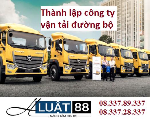 Thành lập công ty vận tải đường bộ
